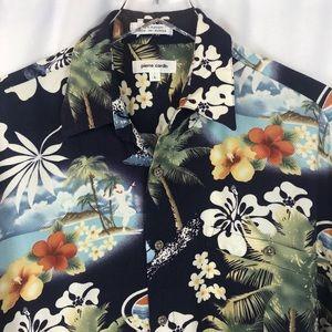 Pierre Cardin Hawaii Short Sleeve Shirt SZ L